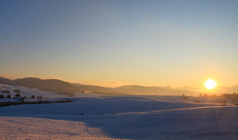 Winter panorama of the Asiago plateau