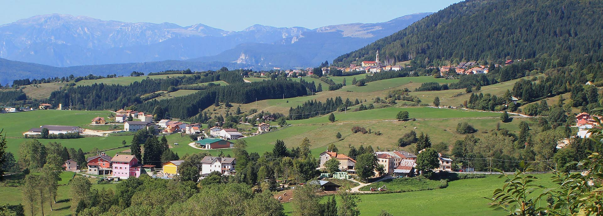 The panorama of Mezzaselva di Roana